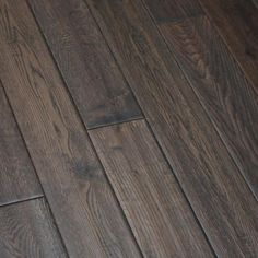 White Oak Charcoal Briquette x Hand Scraped Solid Hardwood Flooring Hardwood Floor Stain Colors, Hardwood Floors, Floor Design, Tile Design, Grey Flooring, Flooring Ideas, Lavatory Design, Charcoal Briquettes, White Oak Floors