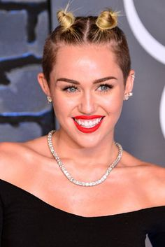 The 12 Best Beauty Moments from the 2013 MTV VMAs: Miley Cyrus' Throwback Buns #Makeup