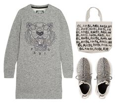 """""""KENZO Tiger-embroidered cotton sweatshirt mini dress"""" by goldiloxx ❤ liked on Polyvore"""