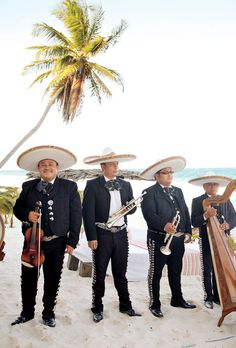 Brides.com: A Casual, Modern Wedding in Mexico. How cool would it be to have a mariachi band at your wedding in Mexico?!