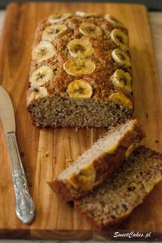 Healthy Sweets, Healthy Recipes, Sweet Life, Sugar Free, Banana Bread, Recipies, Food And Drink, Gluten Free, Vegan