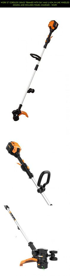 "WORX 13"" Cordless Grass Trimmer with 56V Max Li-Ion, In-line Wheeled Edging and includes 90min. Charger - WG191 #camera #gadgets #plans #grass #tech #products #technology #parts #fpv #drone #kit #shopping #cordless #trimmers #racing"