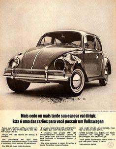 Propaganda do Volkswagen Fusca-a mais machista de todas-um classico