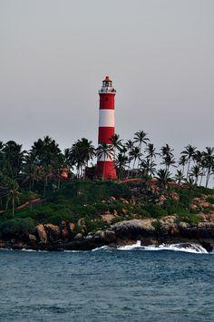 The lighthouse on the Kovalam beach, #Kerala