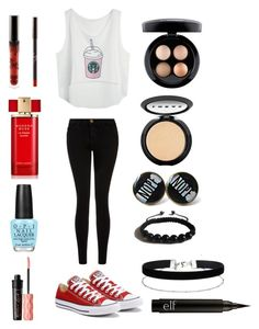 Untitled #171 by jenniferhdz on Polyvore featuring polyvore, fashion, style, Current/Elliott, Converse, Shamballa Jewels, Miss Selfridge, LORAC, MAC Cosmetics, Benefit, Estée Lauder, OPI and clothing