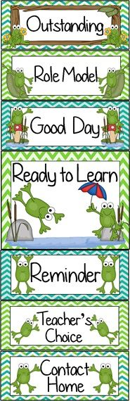 Frog Pond Themed Behavior Clip Chart ~ Classroom Management Tool