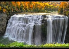 Gorgeous Middle Letchworth Autumn Waterfall by :: Igor Borisenko Photography ::, via Flickr. Located in NW New York State, 107 feet high.