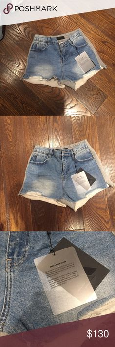 343cfac2 NWT Alexander Wang high waist Bite Shorts brand new with tags authentic  sweat shorts back!