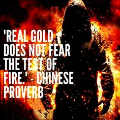 Real Gold does not fear the test of fire. Chinese proverb