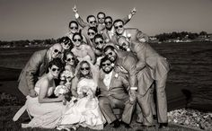 Bridal party gift; aviator sunglasses so everyone has sunglasses and matched