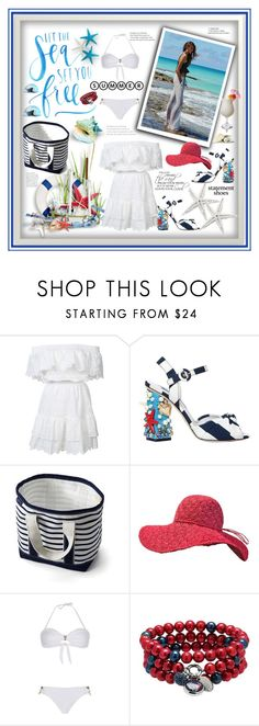 """""""Statement shoes....summer feeling"""" by marina-class ❤ liked on Polyvore featuring LoveShackFancy, Dolce&Gabbana, Lands' End, Amenapih, TIKI and Dolan Bullock"""