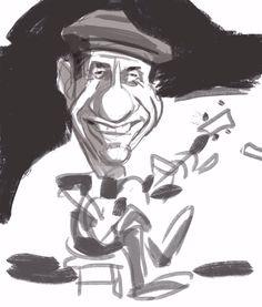 Fagner caricatura iPad art Procreate