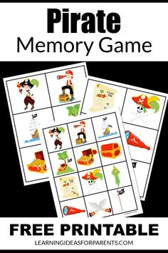 Pirate Symbols, Pirate Images, Pirate Day, Memory Games For Kids, Teacher Tools, Printer Paper, Matching Games, Best Teacher, Free Games