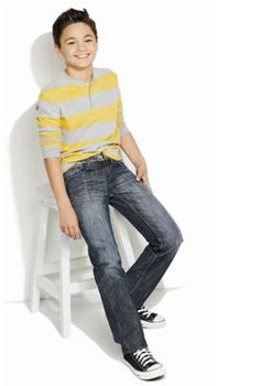Pair whisker-wash jeans with a striped henley for an easy weekday look. #Kohls