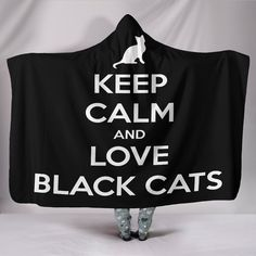 Love Black Cats Hooded Blanket Hooded Blanket, Hoods, Black Cats, Tracking Number, Fabric, Interior, Blankets, Cape, Women