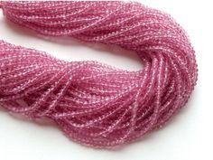 WHOLESALE 5 Strands Pink Coated Quartz Bead Pink by gemsforjewels
