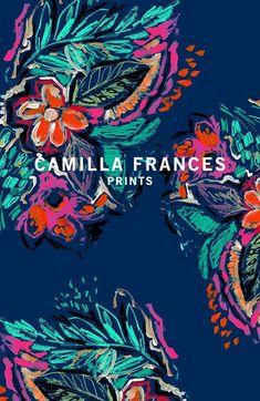 About Camilla - Camilla Frances Prints Textile Pattern Design, Textile Patterns, Textile Prints, Pattern Art, Print Patterns, Fabric Design, Motif Floral, Floral Prints, Graphic Design Illustration