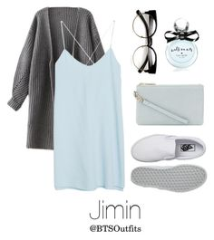 """""""Cute/Flirty Outfit with Jimin"""" by btsoutfits ❤ liked on Polyvore featuring MANGO, Whistles, Vans and Kate Spade"""