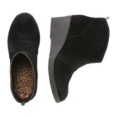 Kid Girls' Sueded Wedge Boots in Black from Joe Fresh