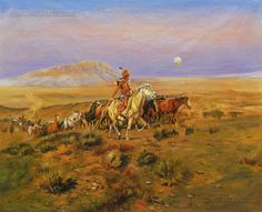 The Horse Thieves by Charles Marion Russell