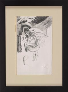Chasuble #014 2016   31 x 23 cm. (frame size) Pencil on paper