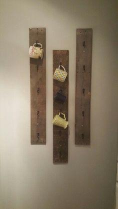 Diy coffee mug rack w/ pallet wood