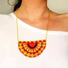 How to Make a Aztec Necklace ==> http://www.craftdiyideas.com/how-to-make-a-aztec-necklace/