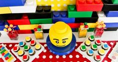 Lego Theme Party Ideas | Homesessive.com  Cupcakes with Lego candy pieces on top
