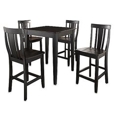 Nice dining/pub set..maybe for a basement entertaining area?