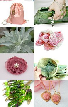 Mint and Rose colours game by Miss Cherry on Etsy--Pinned with TreasuryPin.com
