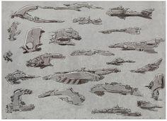 concept ship designs by angelitoon on DeviantArt Spaceship Concept, Concept Ships, Concept Art, Ship Sketch, Machine Design, Spaceships, Sci Fi Art, Creature Design, Science Fiction