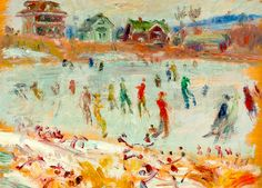 William Glackens - Skaters, Lakewood, New Jersey
