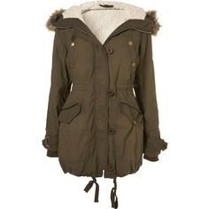 Petite Padded Parka ($190) ❤ liked on Polyvore featuring outerwear, coats, jackets, parka, casacos, women, brown coat, padded parka, parka coat and padded coat