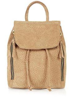 Merino Embossed Suede Backpack