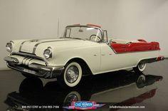1955 Pontiac Star Chief Convert, White & Red.