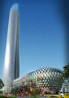 Nanjing Olympic Tower, 400m, de Murphy/Jahn