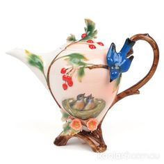 Franz gorgeous Mother and Baby Birds Teapot