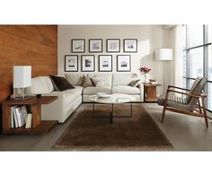 Callan Chair & Ottoman in Lagoon Leather - Recliners & Lounge Chairs - Living - Room & Board