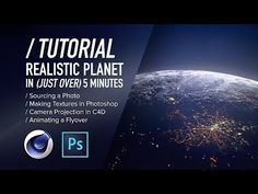 (10) ( / ) C4D TUTORIAL - Ultra-Quick Realistic Planets - YouTube
