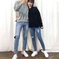 35แฟชั่นเสื้อคู่สไตล์เกาหลีแอ๊บอวดผู้แบบเนียนๆ
