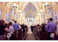 a must-have wedding picture. This church is just gorgeous!