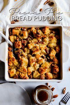 Pecan Pie Bread Pudding Pecan Recipes, Pudding Recipes, Dessert Recipes, Cooking Recipes, Pudding Desserts, Pecan Desserts, Dessert Bread, Bread Recipes, Pecan Pie Bread Pudding