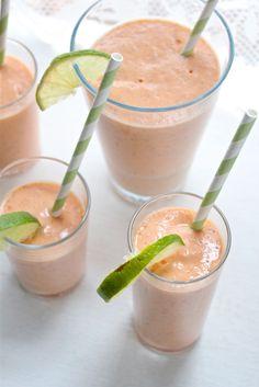 Papaya and coconut smoothie with a splash of Malibu rum... Sounds good to me