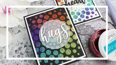 cardmaking video demo from Mindy Eggen Design: Glitz Glitter Gel Rainbow Glitter Cardstock, Glitter Gel, Sparkle Paint, Pretty Pink Posh, Rainbow Paper, Embossing Machine, Bubblegum Pink, Have Some Fun, Diy Wall