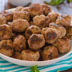 Greek Turkey Meatballs HealthyAperture.com