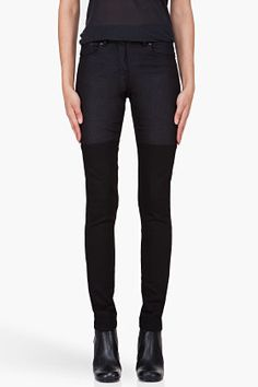 Surface To Air Skinny Black Horizontal V1 Jeans for women | SSENSE