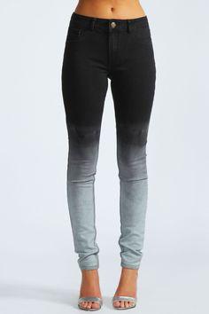Rhona Dip Dye Ombre Super Skinny Jeans
