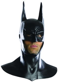 Deluxe Batman Cowl Latex Mask This licensed Arkham City Dark Knight cowl is made of latex. Fits most teens and adults. Perfect accessory to complete your Dark Knight costume.