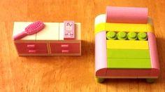 LEGO Custom Furniture Modular House Interior - Girls Bedroom - Bed & Dresser, Cell Phone, Brush, Friends! #LEGO #LEGOModular #LEGOFurniture #LEGOBed #LEGOHouse #LEGOFriends  #LEGOInterior #LEGOBuilding #LEGOCity #LEGOMOC #LEGOBedroom #LEGOAccesories