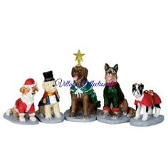 LEMAX COSTUMED CANINES, SET OF 5